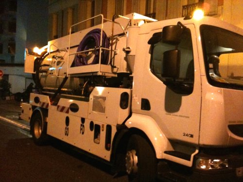 camion pompe haute pression Paris 15